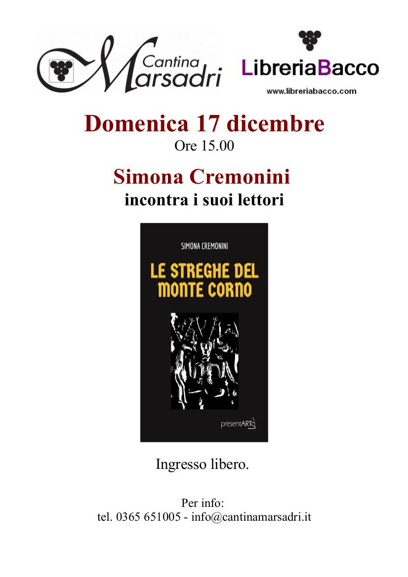"""Simona Cremonini presenta """"Le Streghe del Monte Corno"""""""