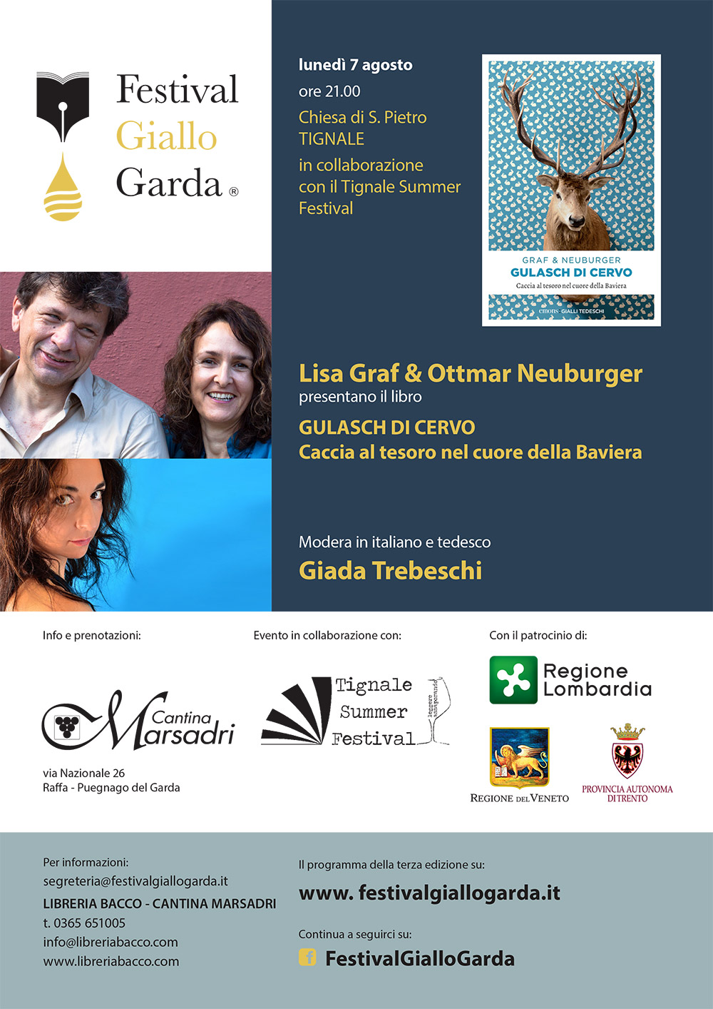"Lisa Graf & Ottmar Neuburger presentano ""Gulasch di Cervo"" - Tignale"
