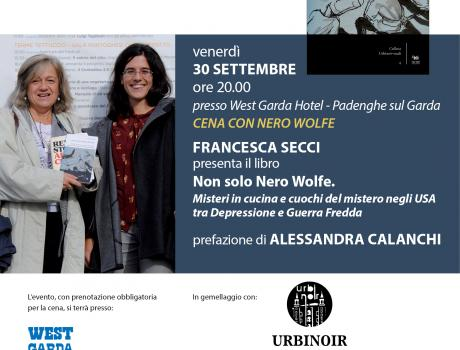 Festival Giallo Garda - NON SOLO NERO WOLFE  CON FRANCESCA SECCI E ALESSANDRA CALANCHI