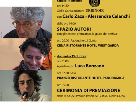 Weekend di premiazione - III ed. Premio letterario Festival Giallo Garda