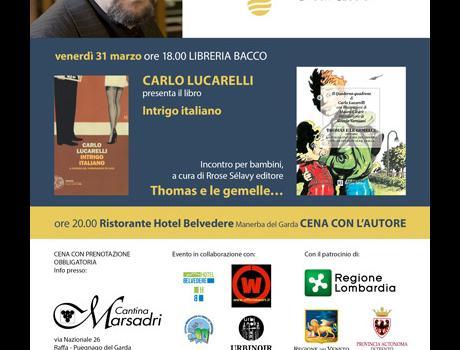 """Festival Giallo Garda -31 marzo Carlo Lucarelli presenta il libro """"Intrigo Italiano"""""""